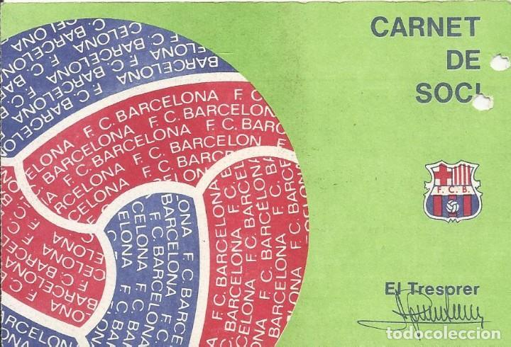 CARNET CLUB DE FÚTBOL BARCELONA. 3ER TRIMESTRE 1977. 8X11,5 CM. BUEN ESTADO CON SIGNOS DE LA EDAD. (Coleccionismo Deportivo - Documentos de Deportes - Carnet de Socios)