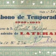 Coleccionismo deportivo: ABONO DE TEMPORADA CLUB DE FÚTBOL BARCELONA. 1949-1950. 7,5X11,5 CM. BUEN ESTADO.. Lote 221716228