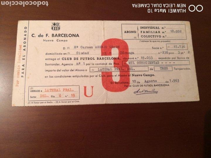 Coleccionismo deportivo: Lote de carnets antiguos futbol club barcelona - Foto 3 - 221918705