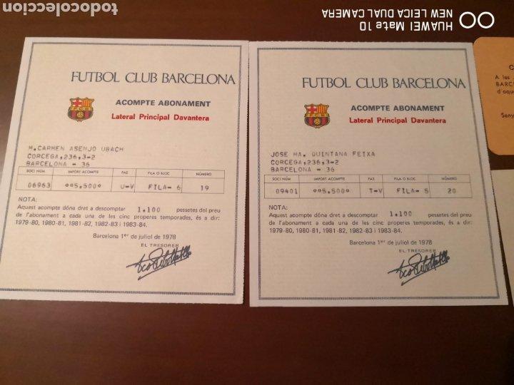 Coleccionismo deportivo: Lote de carnets antiguos futbol club barcelona - Foto 4 - 221918705
