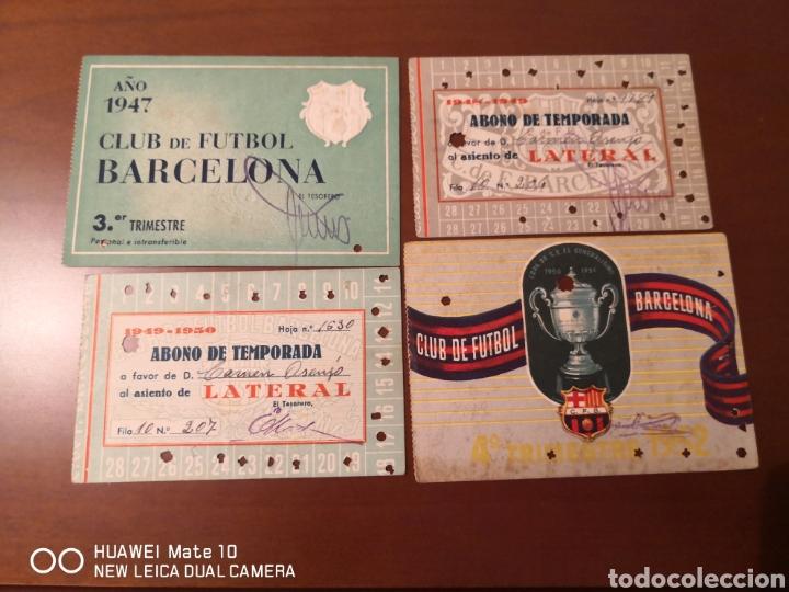 LOTE DE CARNETS ANTIGUOS FUTBOL CLUB BARCELONA (Coleccionismo Deportivo - Documentos de Deportes - Carnet de Socios)