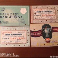 Coleccionismo deportivo: LOTE DE CARNETS ANTIGUOS FUTBOL CLUB BARCELONA. Lote 221918705