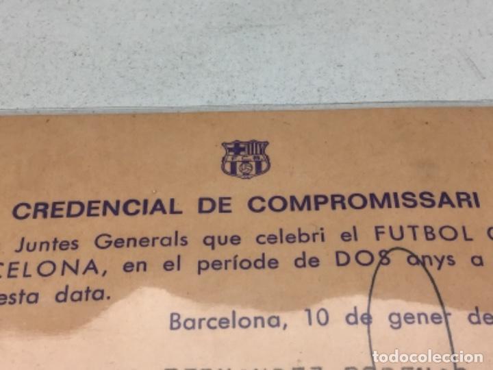 Coleccionismo deportivo: FUTBOL CLUB BARCELONA - CREDENCIAL DE COMPROMISSARI ANY 1980 - Foto 2 - 222482557