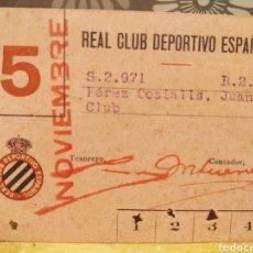 Coleccionismo deportivo: CARNET DE SOCIO RCD ESPAÑOL AÑOS 40. Lote 223227182
