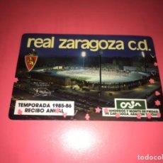 Coleccionismo deportivo: ABONO Ó CARNET REAL ZARAGOZA FÚTBOL TEMPORADA 1985-86 ANUAL. Lote 223954397
