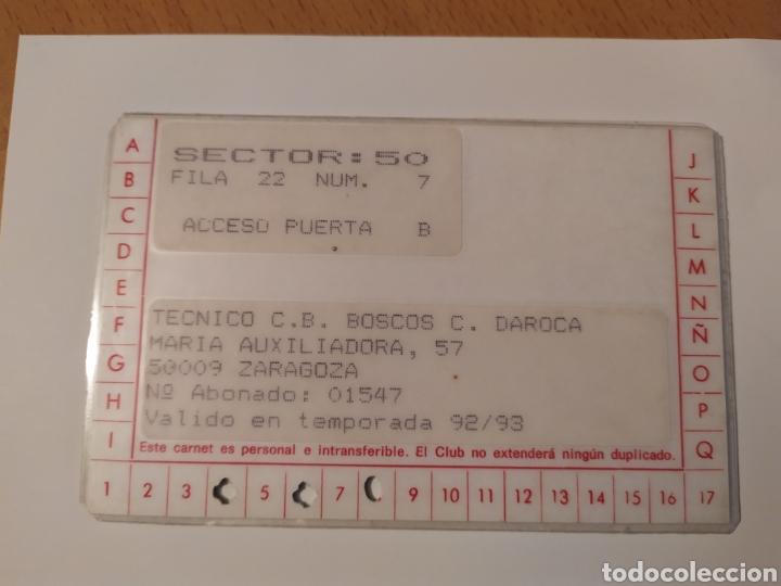 Coleccionismo deportivo: Carnet de socio CONSERVAS DAROCA club de baloncesto filial del CAI ZARAGOZA 92-93 - Foto 2 - 224354471