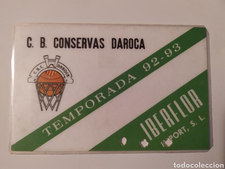 CARNET DE SOCIO CONSERVAS DAROCA CLUB DE BALONCESTO FILIAL DEL CAI ZARAGOZA 92-93 (Coleccionismo Deportivo - Documentos de Deportes - Carnet de Socios)
