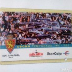 Coleccionismo deportivo: ABONO TEMPORADA REAL ZARAGOZA 1997-98. Lote 226884155