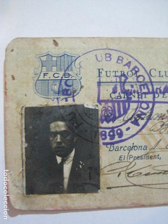 Coleccionismo deportivo: FUTBOL CLUB BARCELONA-CARNET ENTRADA DE JUGADOR DE BALONCESTO-ANO 1926 1927-VER FOTOS-(76.191) - Foto 3 - 228349060
