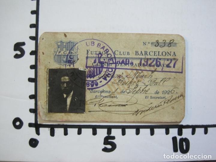 Coleccionismo deportivo: FUTBOL CLUB BARCELONA-CARNET ENTRADA DE JUGADOR DE BALONCESTO-ANO 1926 1927-VER FOTOS-(76.191) - Foto 6 - 228349060