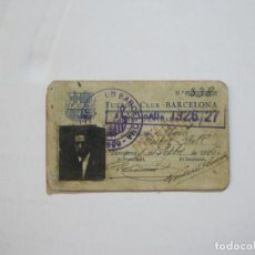 Coleccionismo deportivo: FUTBOL CLUB BARCELONA-CARNET ENTRADA DE JUGADOR DE BALONCESTO-ANO 1926 1927-VER FOTOS-(76.191). Lote 228349060