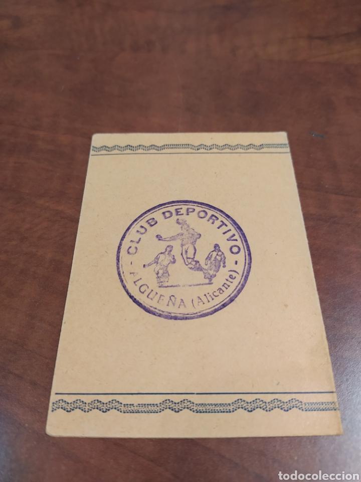 Coleccionismo deportivo: Algueña Club Deportivo 1950 - Foto 2 - 232621445