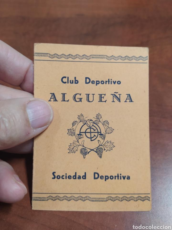 ALGUEÑA CLUB DEPORTIVO 1950 (Coleccionismo Deportivo - Documentos de Deportes - Carnet de Socios)