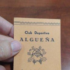 Coleccionismo deportivo: ALGUEÑA CLUB DEPORTIVO 1950. Lote 232621445