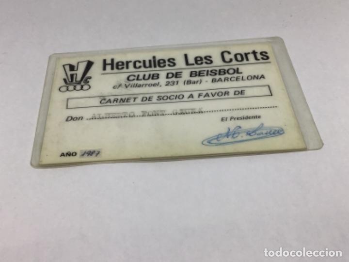 HERCULES LES CORTS - CARNET DE SOCIO AÑO 1987 - CLUB DE BEISBOL (Coleccionismo Deportivo - Documentos de Deportes - Carnet de Socios)