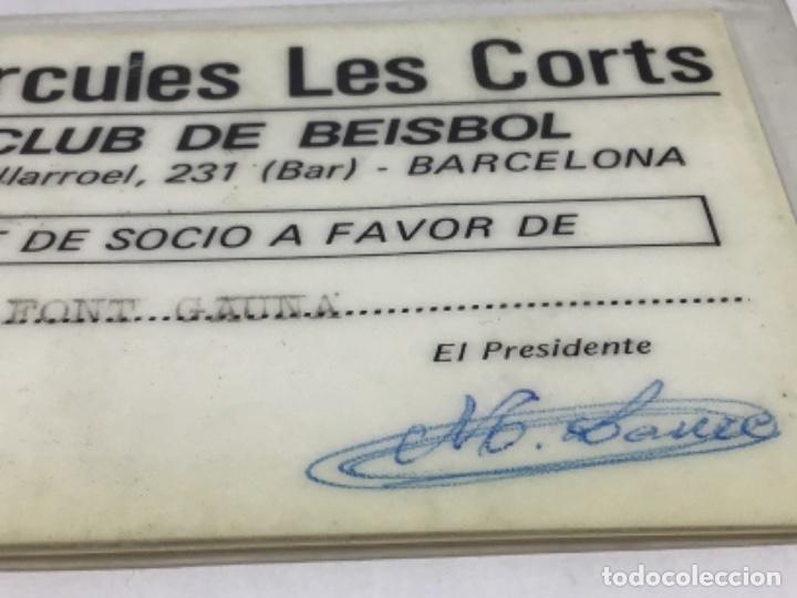 Coleccionismo deportivo: HERCULES LES CORTS - CARNET DE SOCIO AÑO 1987 - CLUB DE BEISBOL - Foto 4 - 234429215