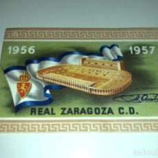 Coleccionismo deportivo: ABONO Ó CARNET REAL ZARAGOZA FÚTBOL TEMPORADA 1956/57 SEPTIEMBRE 57. Lote 234994910