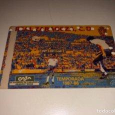Coleccionismo deportivo: ABONO Ó CARNET REAL ZARAGOZA FÚTBOL TEMPORADA 1987/88 ANUAL. Lote 223954313