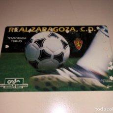 Coleccionismo deportivo: ABONO Ó CARNET REAL ZARAGOZA FÚTBOL TEMPORADA 1988/89 ANUAL. Lote 230611065
