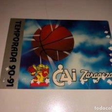 Coleccionismo deportivo: ABONO Ó CARNET BALONCESTO ZARAGOZA TEMPORADA 1990-91. Lote 235571815