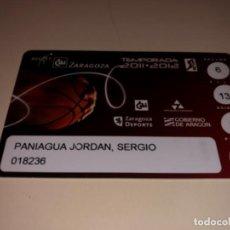 Coleccionismo deportivo: ABONO Ó CARNET BALONCESTO CAI ZARAGOZA TEMPORADA 2011-12. Lote 235572445