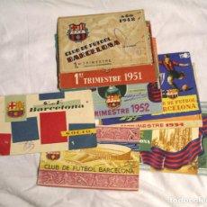 Coleccionismo deportivo: 10 CARNETS SOCIO DEL FC BARCELONA DEL AÑO 1951 AL 1956, LISTA PUBLICADA, PRECIO UNIDAD. Lote 235620790