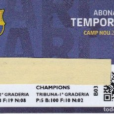 Coleccionismo deportivo: CARNET DE SOCIO DE FUTBOL CLUB BARCELONA TEMPORADA 2018/19 LLIGA TRIBUNA 2º GRADERIA - BARÇA. Lote 236039390
