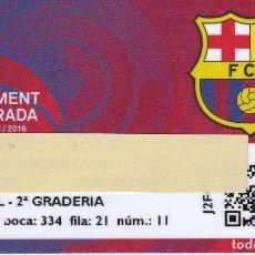Coleccionismo deportivo: CARNET DE SOCIO DE FUTBOL CLUB BARCELONA TEMPORADA 2015/16 LATERAL 2º GRADERIA - BARÇA. Lote 236039950