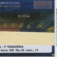 Coleccionismo deportivo: CARNET DE SOCIO DE FUTBOL CLUB BARCELONA TEMPORADA 2010/11 TRIBUNA 2º GRADERIA - BARÇA. Lote 236040365