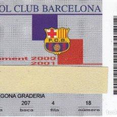 Coleccionismo deportivo: CARNET DE SOCIO DE FUTBOL CLUB BARCELONA TEMPORADA 2000/01 TRIBUNA 2ª GRADERIA (CAIXA-COCA-COLA-NIKE. Lote 236040970
