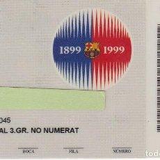 Coleccionismo deportivo: CARNET DE SOCIO DE FUTBOL CLUB BARCELONA TEMPORADA 1999/00 LATERAL 3ª GRADERIA ZONA C NO NUMERAT. Lote 236041790