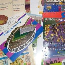 Coleccionismo deportivo: MAGNIFICO LOTE CARNET ABONOS Y ALGO DE PUBLICIDAD. Lote 236096085