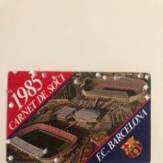Coleccionismo deportivo: CARNET SOCIO FC BARCELONA 1985 BARÇA MEMBER SOCI. Lote 237572225
