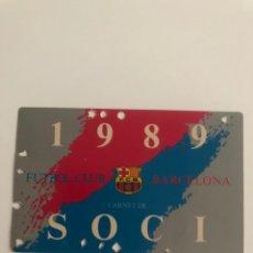 Coleccionismo deportivo: CARNET SOCIO FC BARCELONA 1989 BARÇA MEMBER SOCI. Lote 237572880