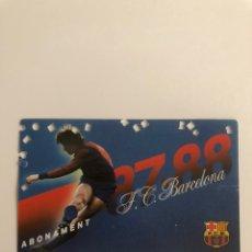 Coleccionismo deportivo: CARNET ABONO FC BARCELONA 87 88 BARÇA MEMBER SEASON CARD SOCI. Lote 237768925