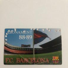 Coleccionismo deportivo: CARNET ABONO FC BARCELONA 88-89 BARÇA MEMBER SEASON CARD SOCI. Lote 237769050