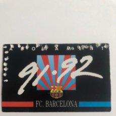 Coleccionismo deportivo: CARNET ABONO FC BARCELONA 91 92 BARÇA MEMBER SEASON CARD SOCI. Lote 237769420