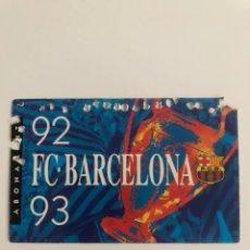 Coleccionismo deportivo: CARNET ABONO FC BARCELONA 92 93 BARÇA MEMBER SEASON CARD SOCI. Lote 237769510