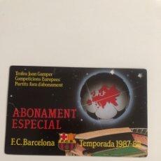 Coleccionismo deportivo: ABONAMENT ESPECIAL FC BARCELONA 87 88 BARÇA MEMBER SPECIAL SEASON CARD RARE. Lote 237771335