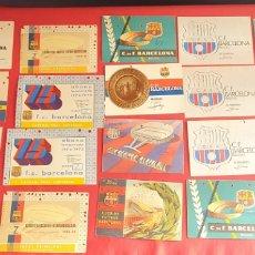 Coleccionismo deportivo: LOTE DE 31 CARNET SOCIOS DE F.C BARCELONA AÑOS 1959 -1973 VER FOTOS. Lote 238550970
