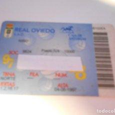 Coleccionismo deportivo: REAL OVIEDO. S. A. D. CARNET DE SOCIO DE LA TEMPORADA 97 / 98. FUTBOL.. Lote 238628245