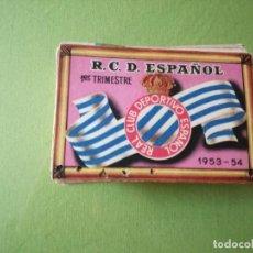 Coleccionismo deportivo: ANTIGUAS TARJETAS TICKER DE SOCIO DEL CLUB DEL ESPAÑOL. TEMPORADAS DE 1953-54 A 1974-75.. Lote 242358670