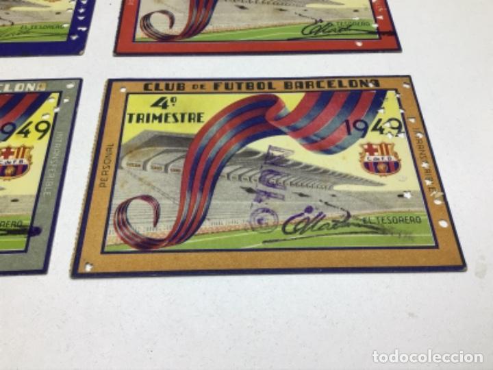 Coleccionismo deportivo: CARNET DE SOCIO F.C. BARCELONA - 4 TRIMESTRES AÑO 1949 - COMPLETO - Foto 5 - 243849000
