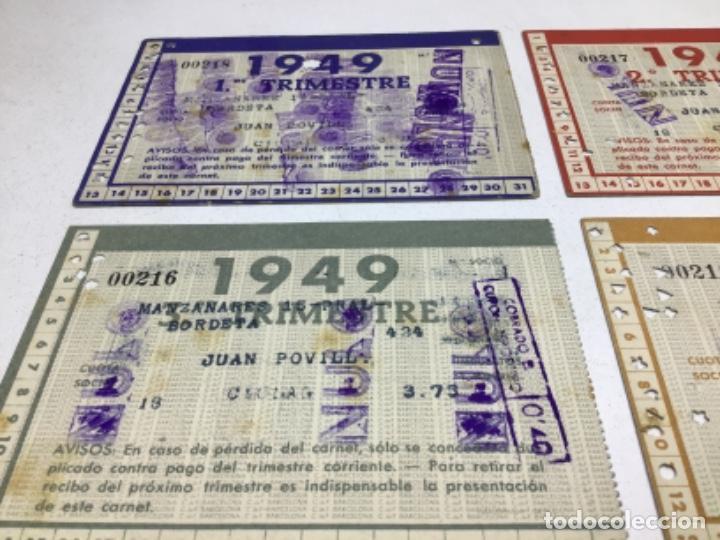 Coleccionismo deportivo: CARNET DE SOCIO F.C. BARCELONA - 4 TRIMESTRES AÑO 1949 - COMPLETO - Foto 6 - 243849000