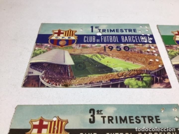 Coleccionismo deportivo: CARNET DE SOCIO F.C. BARCELONA - 4 TRIMESTRES AÑO 1950 - COMPLETO - Foto 2 - 243849280