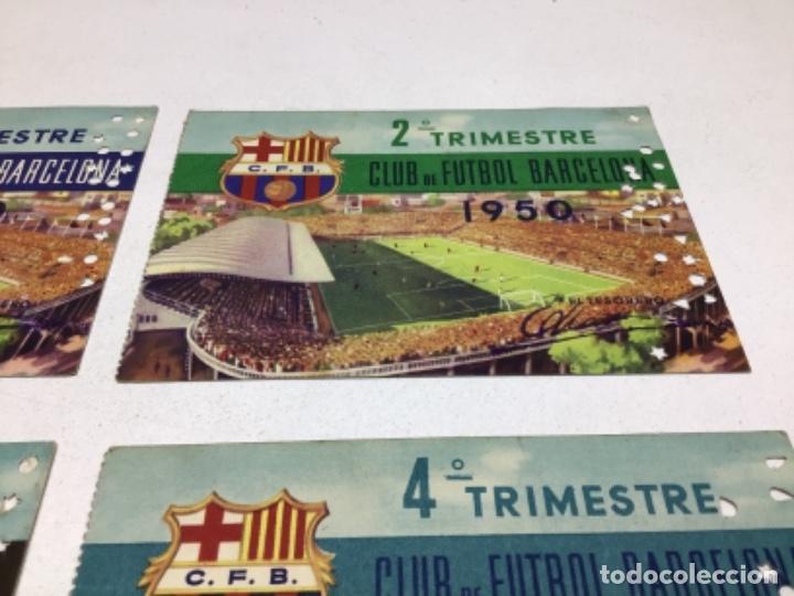 Coleccionismo deportivo: CARNET DE SOCIO F.C. BARCELONA - 4 TRIMESTRES AÑO 1950 - COMPLETO - Foto 3 - 243849280