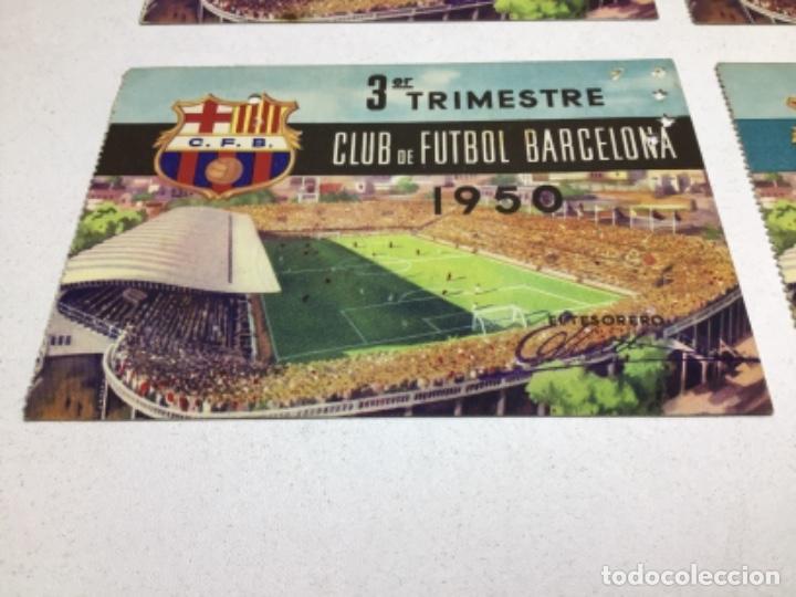 Coleccionismo deportivo: CARNET DE SOCIO F.C. BARCELONA - 4 TRIMESTRES AÑO 1950 - COMPLETO - Foto 4 - 243849280