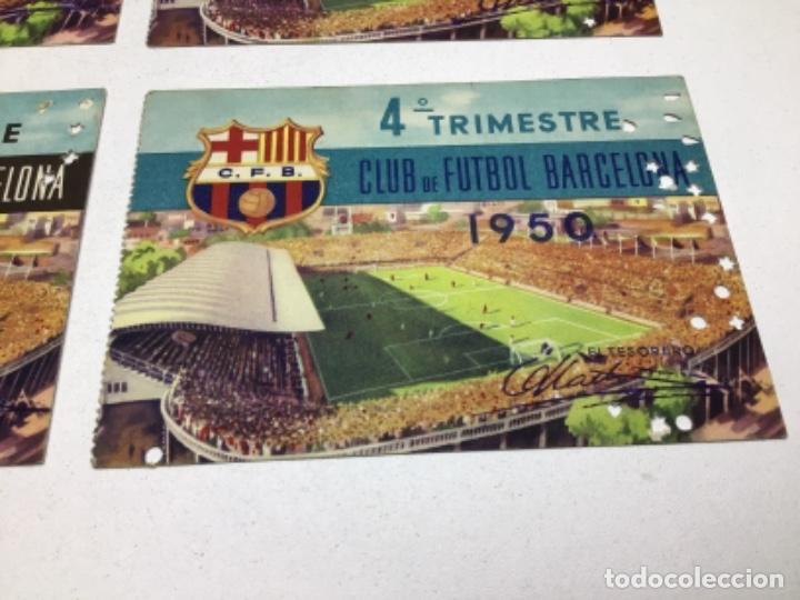 Coleccionismo deportivo: CARNET DE SOCIO F.C. BARCELONA - 4 TRIMESTRES AÑO 1950 - COMPLETO - Foto 5 - 243849280