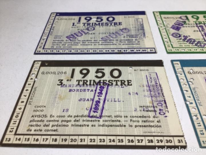Coleccionismo deportivo: CARNET DE SOCIO F.C. BARCELONA - 4 TRIMESTRES AÑO 1950 - COMPLETO - Foto 6 - 243849280