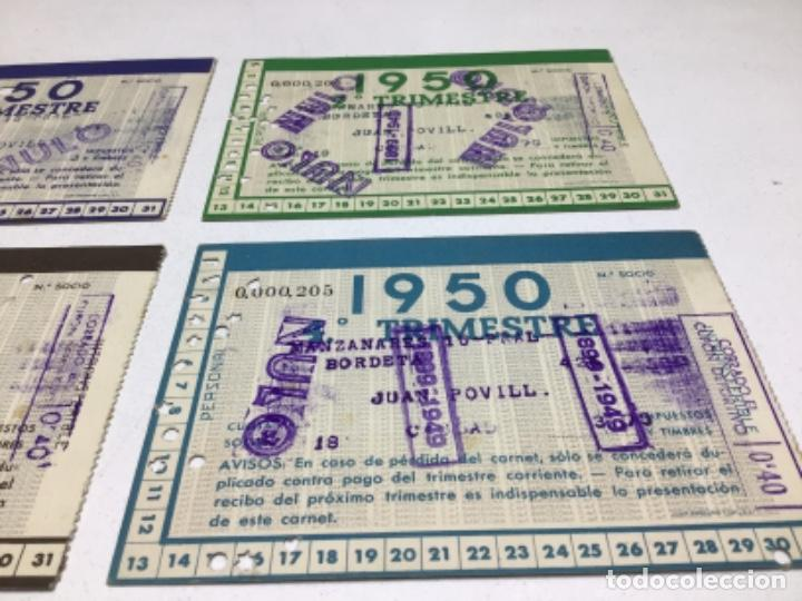 Coleccionismo deportivo: CARNET DE SOCIO F.C. BARCELONA - 4 TRIMESTRES AÑO 1950 - COMPLETO - Foto 8 - 243849280